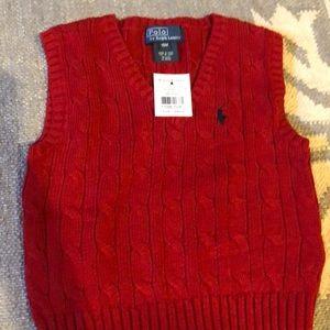 Polo Ralph Lauren red vest